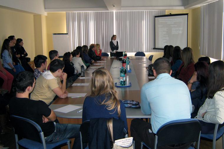 Посета на студентите од УКИМ - Економски факултет