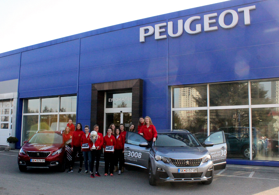 The women basketball team of K.K. Vardar won its first-CUP TITLE and celebrated together with Peugeot