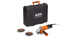 Small angle grinder 1000 W, 125 mm in a box, with GIFT-2 diamond blades